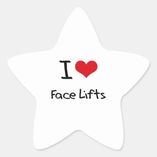 Eu amo faces lift adesivo estrela