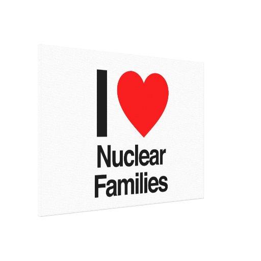 eu amo famílias nucleares impressão de canvas envolvida