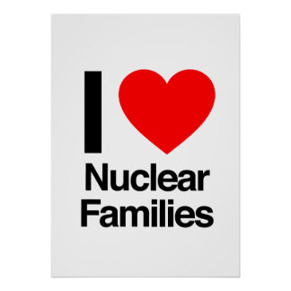 eu amo famílias nucleares pôsteres