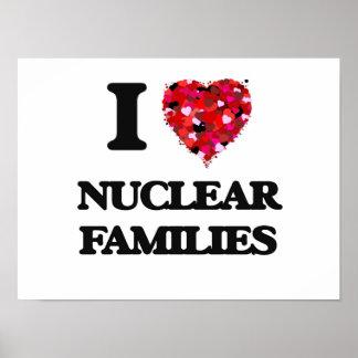 Eu amo famílias nucleares poster