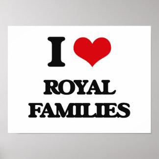 Eu amo famílias reais poster