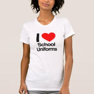 eu amo fardas da escola tshirts