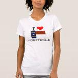Eu amo Fayetteville North Carolina T-shirts