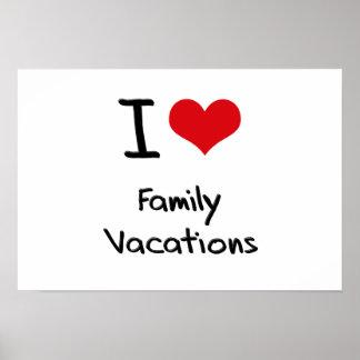 Eu amo férias em família posteres