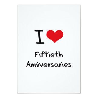 Eu amo Fiftieth aniversários Convite Personalizados