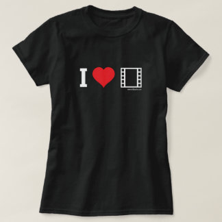 Eu amo filmes camiseta