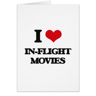 Eu amo filmes de bordo cartão comemorativo