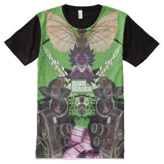 Eu amo filmes & filmo o design do t-shirt camisetas com impressão frontal completa