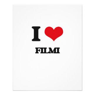Eu amo FILMI Modelo De Panfletos