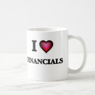 Eu amo financeiros caneca de café