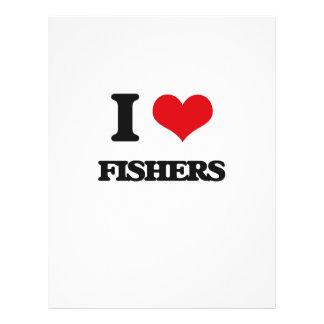 Eu amo Fishers Panfleto Personalizado