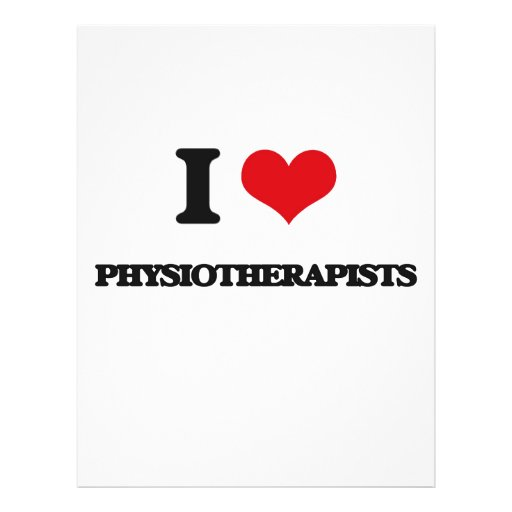 Eu amo fisioterapeuta panfleto