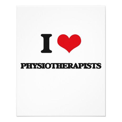 Eu amo fisioterapeuta panfletos