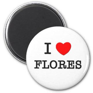 Eu amo Flores Imã De Geladeira