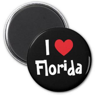 Eu amo Florida Ímã Redondo 5.08cm