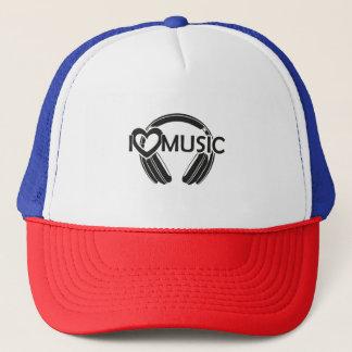 Eu amo fones de ouvido da música boné