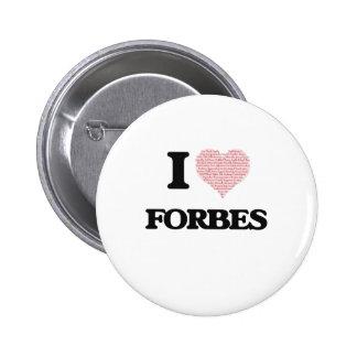 Eu amo Forbes Bóton Redondo 5.08cm