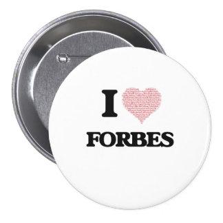 Eu amo Forbes Bóton Redondo 7.62cm