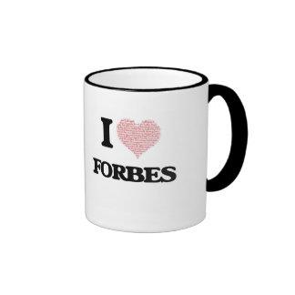 Eu amo Forbes Caneca Com Contorno