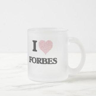 Eu amo Forbes Caneca De Vidro Fosco