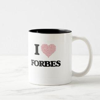 Eu amo Forbes Caneca Dois Tons