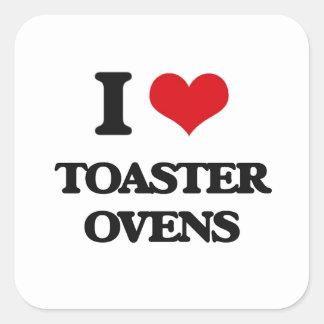 Eu amo fornos do torradeira adesivo quadrado