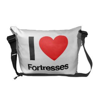 eu amo fortaleza bolsas mensageiro