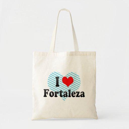 Eu amo Fortaleza, Brasil Bolsas De Lona