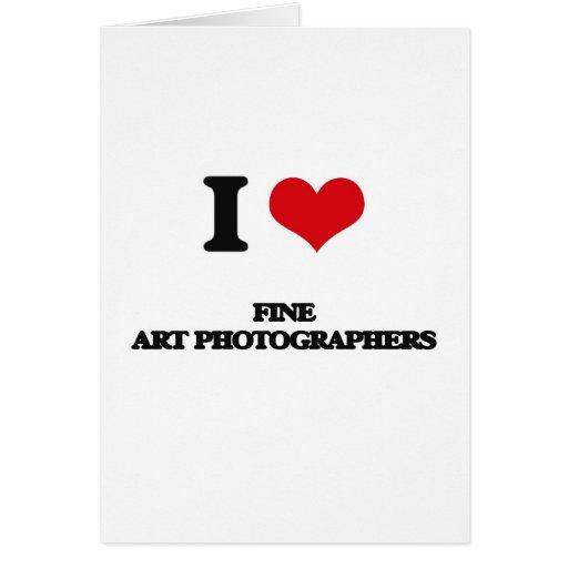 Eu amo fotógrafo das belas artes cartão