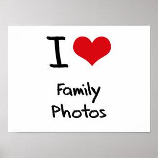 Eu amo fotos de família posteres