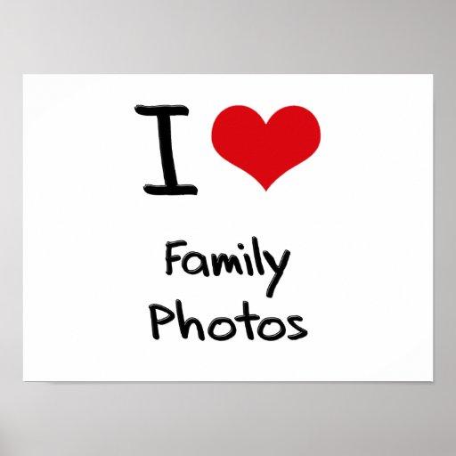 Eu amo fotos de família impressão