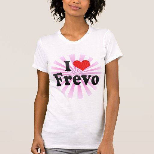 Eu amo Frevo Camisetas