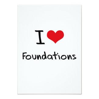 Eu amo fundações convite 12.7 x 17.78cm