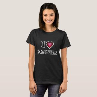 Eu amo funis camiseta
