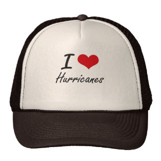 Eu amo furacões boné