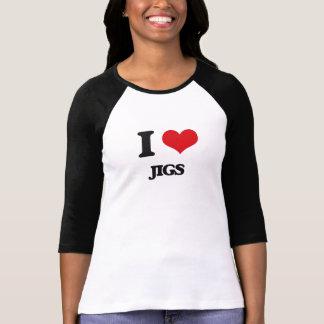 Eu amo gabaritos t-shirts