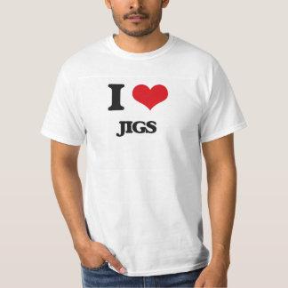 Eu amo gabaritos camiseta