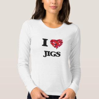 Eu amo gabaritos camisetas