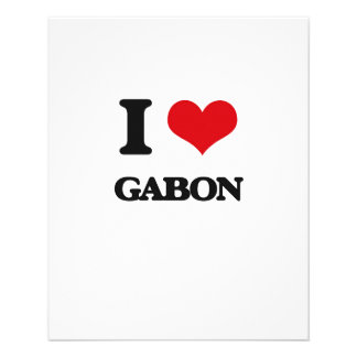 Eu amo Gabon Panfleto