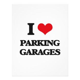 Eu amo garagens de estacionamento panfletos personalizados