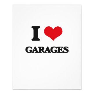 Eu amo garagens panfletos personalizados
