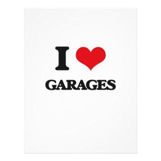 Eu amo garagens panfleto coloridos