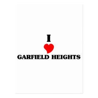 Eu amo Garfield Cartão Postal