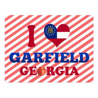 Eu amo Garfield Geórgia Cartão Postal