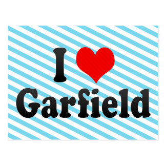 Eu amo Garfield os Estados Unidos Cartao Postal