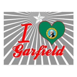 Eu amo Garfield Washington Cartões Postais