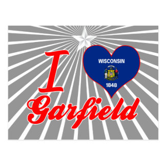 Eu amo Garfield Wisconsin Cartao Postal