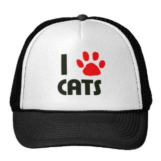 Eu amo gatos boné
