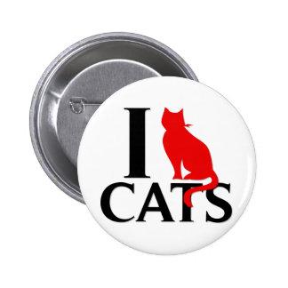 Eu amo gatos botons