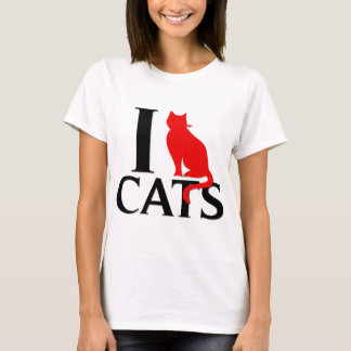 Eu amo gatos camiseta